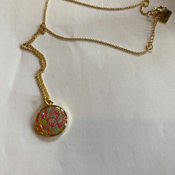 PRETTY LILLY PULITZER PINK/GREEN 20 INCH NECKLACE